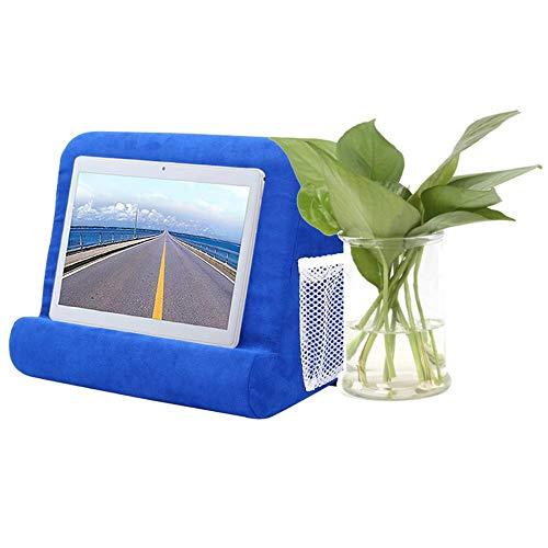 Soporte de almohada suave multiángulo, soporte para tableta, soporte de cojín para mesa (primera generación de Netball), color azul