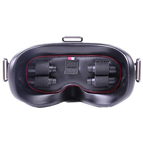 Hensych Objektivschutz Multifunktionale Schutzabdeckung für D-J-I FPV Brille V2 Staubdichte Sonnenblende Pad Antenne microSD Kartenaufbewahrung Halter für FPV Combo Zubehör