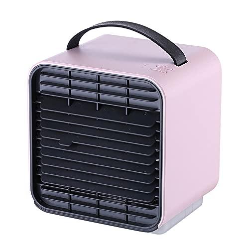 Ventilador De Escritorio, Refrigerador De Aire Portátil, Ventilador De Aire Acondicionado, Fan De Carga USB, Ventilador De Mesa Tranquila con 3 Velocidades para El Hogar, Dormitorio Y Oficina