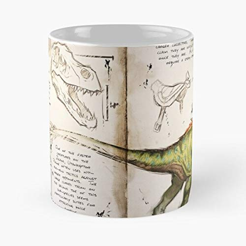Game Awesome Evolved Video Survival Ark Raptor Best 11 Ounce Ceramic Coffee Mug