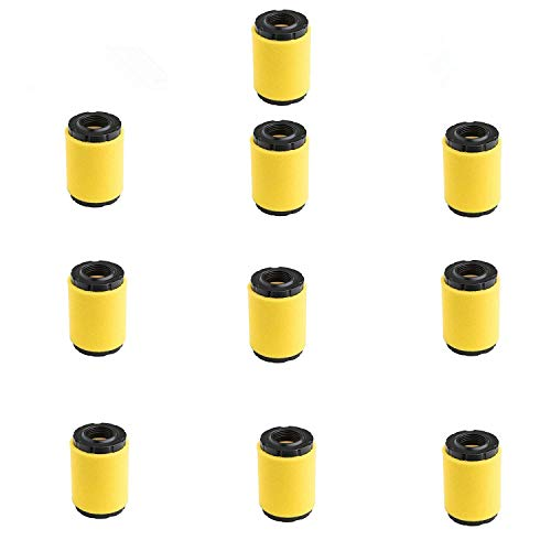 HUAWELL 10 Piece 591334 Air Filter, Replace for Briggs Stratton 796031 594201 OEM Air Cleaner Cartridge, Lawn Mower Air Filter, Plus Foam Pre Filter
