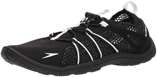 Speedo Women's Water Shoe Seaside Lace Up Athletic,black/white,5 Womens US