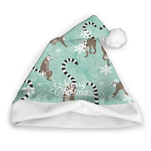 Enhusk Katta Lemur Wiederholungsmuster Weihnachtsmütze Kleinkind Weihnachtsmütze Erwachsene Party Neujahr Weihnachtstag Dekoration Lustige Weihnachtsmützen Partyhüte Für Erwachsene