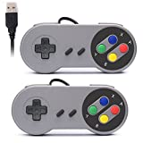 Rii Gaming GP100 - Coppia di Gamepad Controller USB Super Nintendo compatibili con PC (Windows, Mac,...