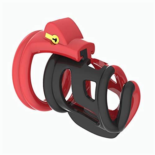 ZQS Ropa sexy para hombre traje de baño HT-V3 Chás-títy Devîcë Masculino Chás-títy Cinturón Ropa interior de plástico para hombre con 4 anillos (color rojo)