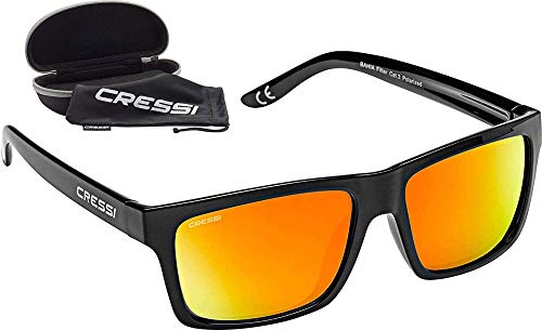 Cressi Bahia Adult Sport Sunglasses, Polarized Lenses, Protective Case - Best for Boating, Sailing, Fishing, Running, Hiking, Cycling