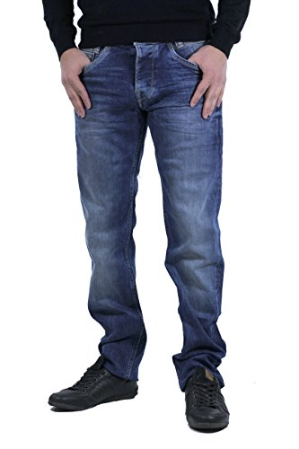 Pepe Jeans Spike Jeans, Azul (11Oz Streaky Vintage Used M84), 34W / 32L para Hombre