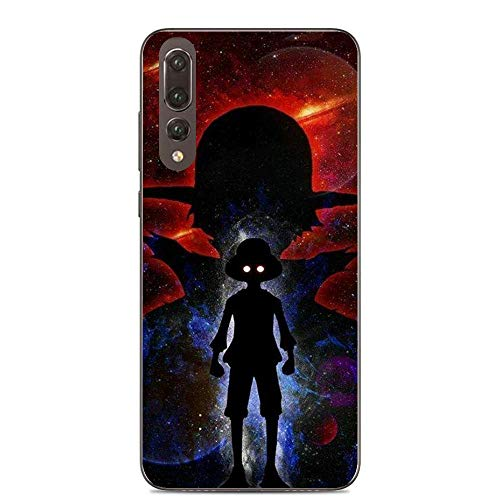 QNNN Transparent Silicone TPU Shockproof Clear Case Compatible with HUAWEI P20 Pro-Luffy-Zoro One-Piece 8