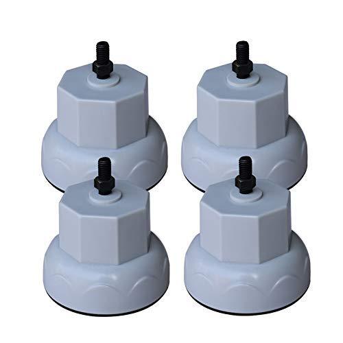 YBINGA 4 patas de lavadora universales a prueba de golpes, antideslizante, soporte de base adecuado para lavadora Haier Midea tambor para aspiradora