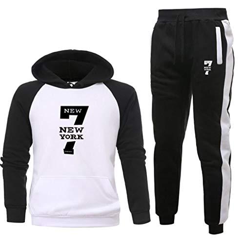 XJIANQI Herren Trainingsanzug Joggers Sweatshirt Hoodie Jog Hose Sporthose Set H-M