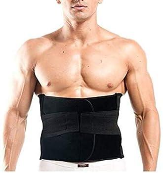 Healthcom Mens Waist Trimmer Lumbar Support Belt Back Brace Support Belt Waist Trainer Postpartum Recoery Body Shaper Sweat Belt Band Weight Loss Slimming Belt Sports Girdles for Women Men