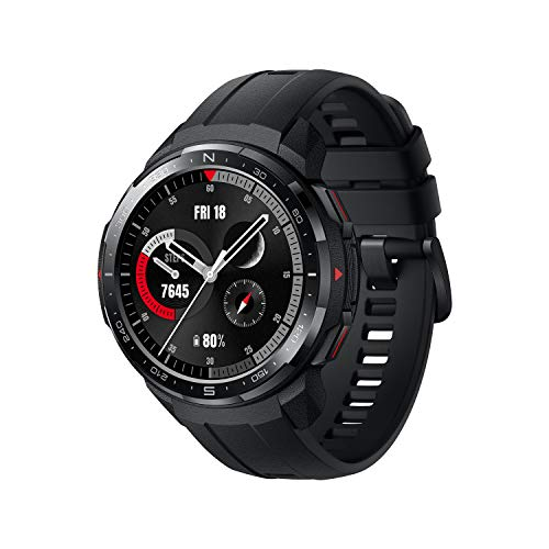 Honor Watch GS Pro Sport Smartwatch Fitness Tracker Activity Tracker Watch Faces Selection GPS SpO2 Heart Rate Tracking ALS Ambient Light Monitor for Android Smartphone and iPhone (Black, 32MB+4GB)