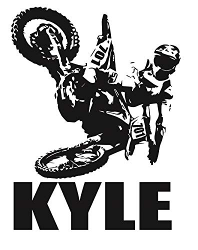 Personalized Custom Motocross Dirt Biker Wall Decal- Add Name and...