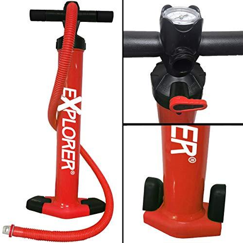 EXPLORER SUP Pumpe Doppelhubkolbenpumpe Handpumpe, rot/schwarz