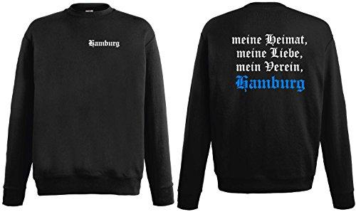 Fruit of the Loom Hamburg Sweatshirt Meine Heimat Meine Liebe Mein Verein Ultras Pulli|L