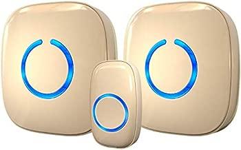 Wireless Doorbell by SadoTech – Waterproof Door Bells & Chimes Wireless Kit – Over 1000-Foot Range, 52 Door Bell Chime, 4 Volume Levels with LED Flash – Wireless Doorbells for Home – Model CXR (Beige)
