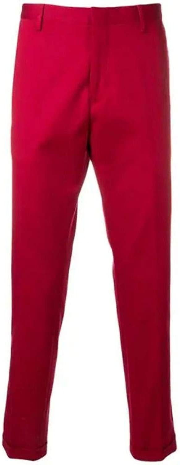 PAUL SMITH Men's M1R150MB0003124 Red Cotton Pants
