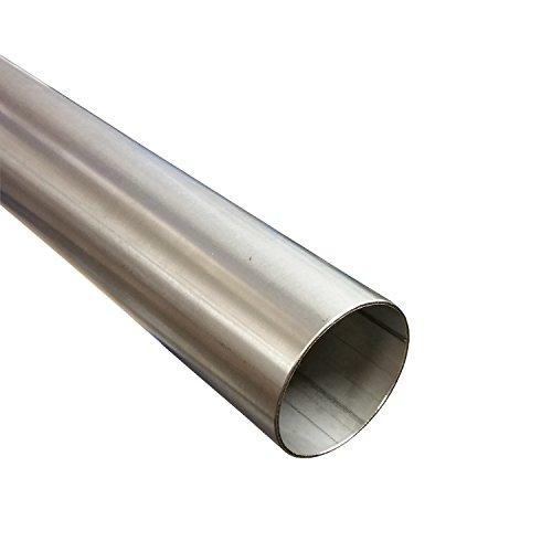 Edelstahlrohr Ø 40 mm x 1000 mm ( 1m ) V2A Auspuffrohr Edelstahl Rohr 1.4301