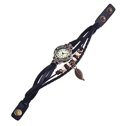 SeniorMar Nuevo Reloj de Pulsera de Hoja de Reloj de 1 Uds, Reloj de Pulsera con Movimiento de Cuarzo, Reloj de Pulsera para niñas y Mujeres, envío Directo al por Mayor