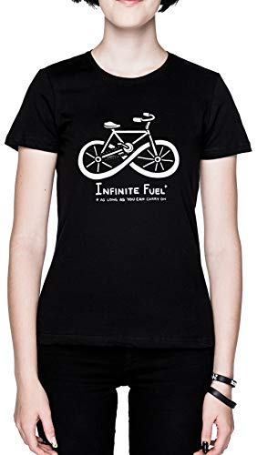 Infinite Fuel Negro Mujer Camiseta Black Women's T-Shirt tee