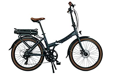 Blaupunkt Unisex– Erwachsene Frida 500 | Falt-E-Bike, Designbike, Klapprad, Lava-Grau matt, 24 inches