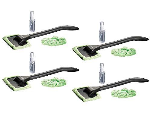 PEARL Scheibenreiniger: Windschutzscheiben-Wunder mit Gelenk-Kopf & Pump-Sprühflasche, 4er-Set (Windschutzscheiben Reiniger)