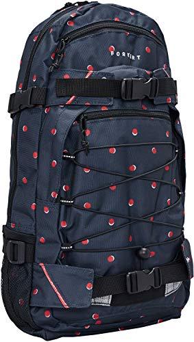 FORVERT Allover Louis Unisex Backpack,Daypack,Rucksack,Hauptfach,3 weitere Fächer,Boardcatcher,gepolstert,verstellbare Träger,Navy Double dot,one Size