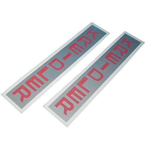 Kreidler Standrohre Gabel Aufkleber Schriftzug mit Logo, Ersatzteil Sticker oder als Tank Schriftzug Dekor. Zum Oldtimer Restaurieren von Lack und Verkleidung. Alternativ zum Motorrad Emblem