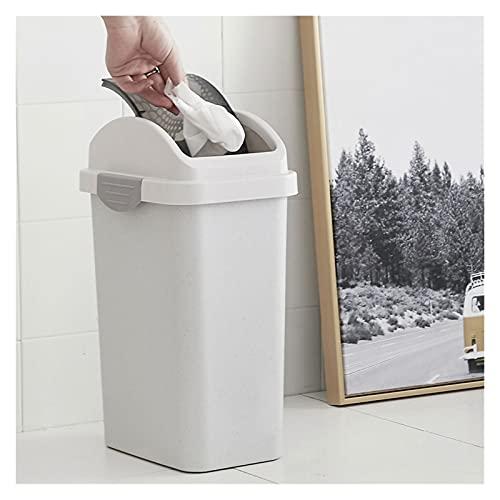 Cubo de Basura de Interior Rectángulo de plástico pequeño bote de basura Papelera de Protección de la tapa del envase de basura Bin for Baños Papeleras de la Cocina de la Cesta de Papel de la