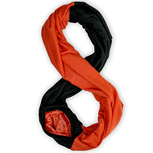 TRAVEL SCARF by WAYPOINT GOODS // Luxury Infinity Scarf with Secret Hidden...