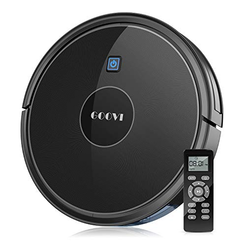 GOOVI Robot Vacuum, 1600Pa Robotic Vacuum Cleaner (Slim) Strong Suction, Quiet Multiple Cleaning Modes, Self-Charging Vacuum, for Pet Hair, Hard Floor, Medium-Pile Carpet