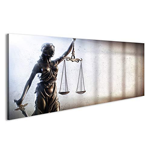 islandburner Cuadro Cuadros Justicia de la señora y la prisión - Concepto de Justicia Penal Impresión sobre Lienzo - Formato Grande - Cuadros Modernos DYM
