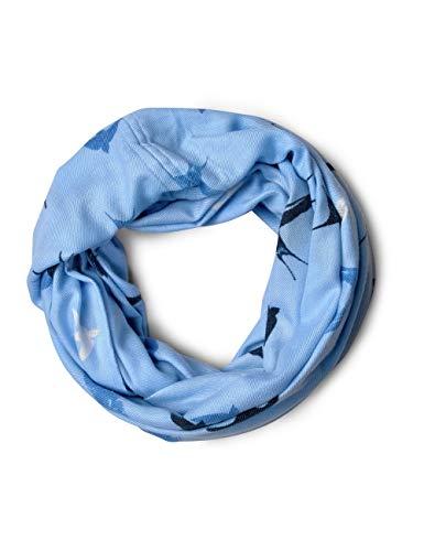 CECIL Damen 570827 Schal, Mehrfarbig (Powder Blue 31389), One Size (Herstellergröße: A)