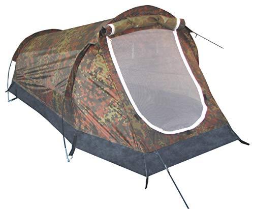 MFH 1 Personen Tunnelzelt Schwarzenberg Zelt Campingzelt 210x90x90cm (Flecktarn)