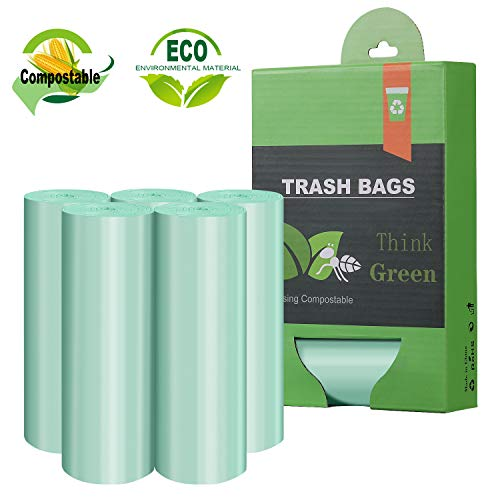 Tall Kitchen Trash Bags,13-15 Gallon Compostable Trash bags, Heavy Duty Unscented 1.18Mils 55 Liter,60 Count,Strong Thicken Rubbish Can Liners for Kitchen Garden Home