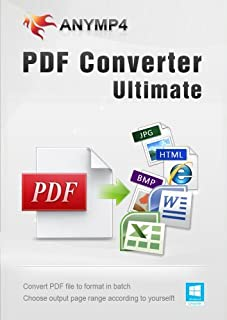 AnyMP4 PDF Converter Ultimate - Convert PDF to any popular document (Text/Word/Excel/PowerPoint/EPUB/HTML, etc.) and image (JPEG, PNG, GIF, TIFF and more) format on Windows 10/8/7/Vista/XP computer [Download]