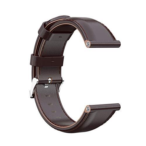 kdjsic Correa de Reloj de Pulsera Deportiva de Repuesto de Cuero para Reloj Inteligente Fitbit Versa/Versa 2 / Versa Lite