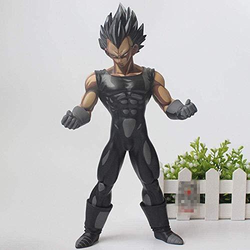 Cadeaux Anime 11 Pouces Anime Dragon Ball Z Vegeta Chocolat Noir PVC Action Figure Collection Modèle Jouet Cadeau 28 CM Y194-Noir