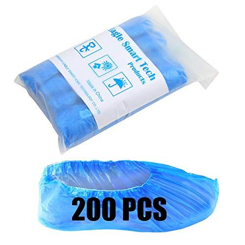 200 pcs Disposable Shoe Covers Indoor Plastic Waterproof...