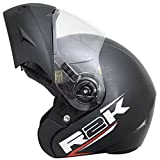 Steelbird R2K OSKA Reflective Flip-up Helmet, ISI Certified Helmet (Medium 580 MM, Dashing Black...