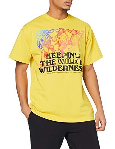 NIKE M NRG ACG SS tee Keeping Wild - Camiseta para Hombre, Hombre, Camiseta, CV7549, Vivid Sulfur/Multi Color/Black, L