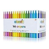 abeec 144 crayones – Juego de 144 lápices de cera surtidos para niños – 12 lápices de colores diferentes 6 de cada color – Suministros de arte y manualidades para niños