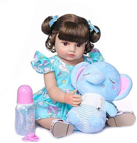 XYBHD 55cm Reborn Baby Baby Niña Muy Suave Cuerpo Completo Silicona Muñeca Baño Juguete Lifelike Real Soft Touch Bath Toy