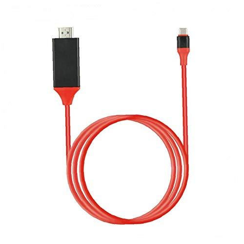 Ohomr Tipo de Cable convertidor C a USB Cable HD TV HDTV Cable Adaptador de Alta Definición Extender Adaptador de Red para Android