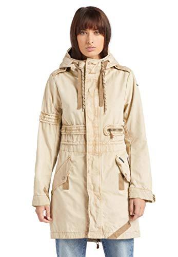 khujo Damen Mantel, Größe:L, Farbe:beige