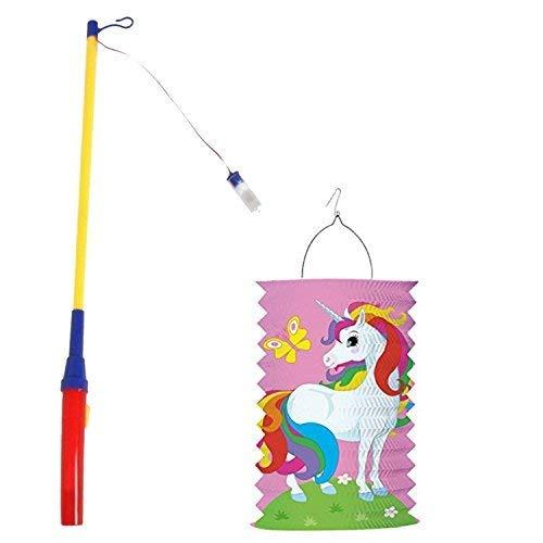 JuniorToys Einhorn Unicorn Laterne Komplettset mit Laternenstab für St. Martin Laternen-Umzug