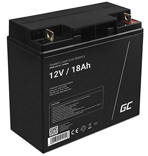 Green Cell® AGM 12V 18Ah Akku VRLA Blei-Batterie Bleiakku Ersatzakku Gelakku Akkubatterie Zyklenfest Unbemann Caravan | Photovoltaik | Rollstuhl | Solarspeicher| Solarbatterie | Solarpanel | Wohnwagen