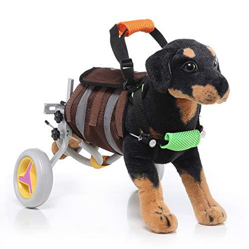 Silla De Ruedas Para Perros, Patas Traseras Para Mascotas, Asistida Para Caminar, Ejercicio Para Mascotas Viejas, Silla De Ruedas Ajustable, Fácil De Montar, Adecuada Para Mascotas De 4 a 9 Kg De Pe