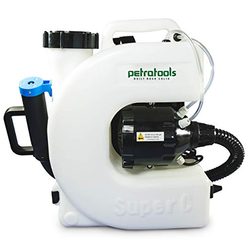 PetraTools Electric Disinfecting Fogger Machine Backpack Sprayer - 4 Gallon Mist Blower with Extended Commercial Hose for Sanitation Spraying - ULV500 Disinfection Fogger (Backpack Sprayer)
