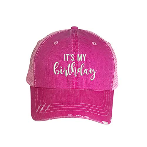 The Hat Connection - It's My Birthday Trucker Hat - Embroidered Unisex Baseball Hat (Pink)